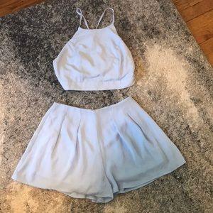 Halter top and shorts set